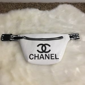 Chanel white fanny pack